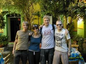 some hostel friends