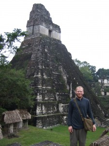 "Me in front of a ""Temple 1"" at Tikal"