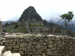 Mount Waynapicchu from within the ruins proper